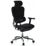 Hjh Sedia ergonomica ERGOPLUS BASE, 100% regolabile e dotata di ogni optional, solida struttura, in colore nero
