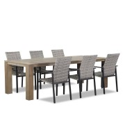 Lifestyle Garden Furniture Lifestyle Upton/Brighton 240 cm dining tuinset 7-delig stapelbaar
