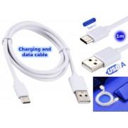 NTR CAB128 USB C 3.1 dugó - USB A 3.1 dugó adat- és töltőkábel 1m Samsung LG Huawei - fehér