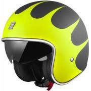 Bogotto V537 Wogi Jet Helmet Black Yellow XS