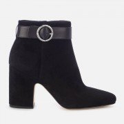 MICHAEL MICHAEL KORS Women's Alana Suede Heeled Ankle Boots - Black - US 7/UK 4 - Black