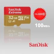 SANDISK SDSQXAF-032G-GN6MA 32GB MICRO SDHC EXTREME A1 V30, UHS-I/ U3, 100MB/s