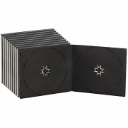 Pearl Doppel CD Slim Soft Boxen im 10er-Set, 7 mm, schwarz
