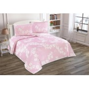 Set de Cuvertura dubla de pat cu 2 fete de perna Valentini Bianco Nelly Pink
