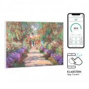 Klarstein Wonderwall Air Art Smart, infravörös hősugárzó, 80 x 60 cm, 500 W, kerti ösvény (HTR10-WdwlS500wGardn)