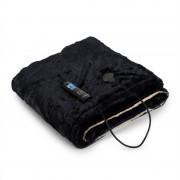 Klarstein Dr. Watson SuperSoft, електрическо одеяло, 120 W, 180 x 130 cm, космат плюш, бежово/син (Dr. W. SuperSoft-BL)