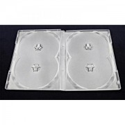 ESPERANZA Box with Clear 14mm for 4 CD/DVD ( 100 Pcs. PACK)