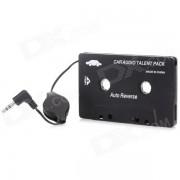 SL-79115 3.5mm adaptador de cassette de audio del coche para MP3 / Celulares - Negro