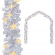 vidaXL Коледен гирлянд с LED лампички, 20 м, бял