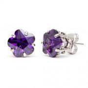 Molly Swarovski kristályos virág alakú fülbevaló - Lila