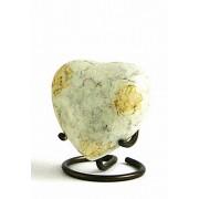 Glenwood White Marble Hart Urn (0.11 liter)