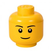 LEGO Storage, Cutie depozitare S cap minifigurina LEGO baiat