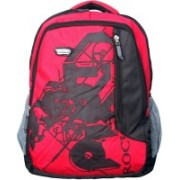Inway Stylish Waterproof Travel 35 L Backpack(Red, Black)
