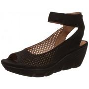 Clarks Women's Clarene Prima Nubuck Black Leather Fashion Sandals - 5 UK/India (38 EU)