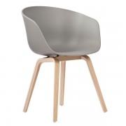 Hay AAC22 stoel met gezeept onderstel kuip grijs