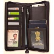arpera leather passport holder for 2 passports check book holder Brown C11567-2