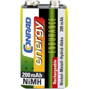 Acumulator NiMH, 9 V, 8,4 V, 200 mAh, Conrad energy Endurance
