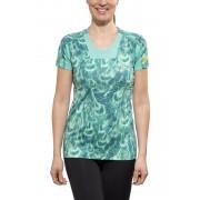 GORE RUNNING WEAR AIR PRINT Hardloopshirt korte mouwen Dames turquoise 36 2015 Hardloopshirts