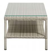 Loungetafel Ronda - grijs - 41x110x52 cm - Leen Bakker