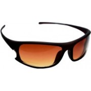 iCare Retro Square Sunglasses(Brown)
