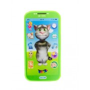 (Angel Impex) My First Touch Screen Mobile with Light and Sound Effect, A Neck Holder and A Tomy Cat Charactor On Screen