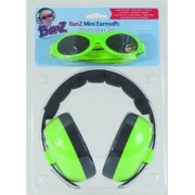 Banz BeschermSet Baby gehoorbescherming kinderen en zonnebril LIME