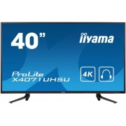 "Monitor VA LED iiyama ProLite 39.5"" X4071UHSU-B1, Ultra HD (3840 x 2160), HDMI, DisplayPort, VGA, 3 ms, Boxe (Negru)"
