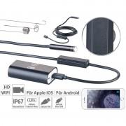 Somikon WiFi-HD-Endoskop-Kamera für iOS- und Android-Mobilgeräte, 2 m