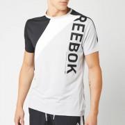 Reebok Men's OST Blocked Short Sleeve T-Shirt - Grey/Black - XL - Grey