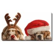 Tablou Canvas Rudolf si Mos Craciun