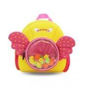 Детский водонепроницаемый рюкзак для девочки NOHOO с крылышками желтый