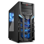 Sharkoon DG7000 ATX Tower PC Gaming Case Blue with Side Window