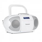 BeeBerry DAB Boombox Stereo Portatile Musicassette USB CD MP3 Bianco
