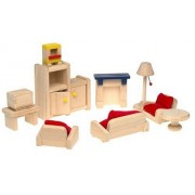Small World Toys Ryans Room Wooden Dollhouse - Relaxing In Style Living Room