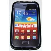Силиконов гръб ТПУ за Samsung S7500 Galaxy Ace Plus Черен