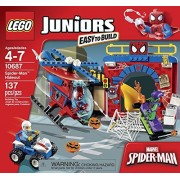 Juniors LEGO 137 PCS Spider-Man Hideout Bike Box Building Toys