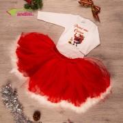 Set Rochiță Tutu - Moș Crăciun - Snowflake