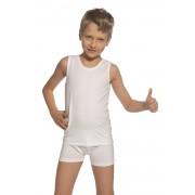 Fiú szett trikó és boxeralsó, fehér fehér