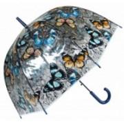 Deštník dámský vystřelovací motýl modrý 9160-23 9160-23