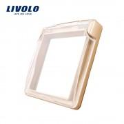 Capac de protectie rezistent la apa pentru prizele din sticla Livolo, auriu