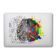 """iCasso Removable Vinyl Decal Sticker Skin for Apple Macbook Pro Air Mac 13"""" inch/Unibody 13 Inch Laptop (Left and Right Brain#1)"""