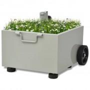vidaXL Outdoor Umbrella Stand Plant Pot Grey
