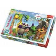 Puzzle clasic pentru copii, Trefl 100 piese, Soapte si prieteni