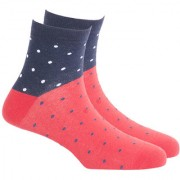 Soxytoes Dot Your Eyes Red Cotton Ankle Length Pack of 1 Pair Polka Dot for Men Casual Socks (STS0002A)
