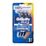 Gillette Blue3 Comfort rasoio elettronico 3 pz uomo