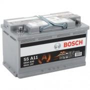 Bosch S5 AGM 80Ah 800A Jobb+ autó akkumulátor