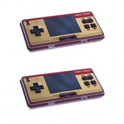 Phenovo 2 Pieces RS-20A 3.0'' Handheld Game Player Console Built-in 638 Retro Games for Kids Children Birthday Christmas Gifts Dark Red