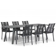 Santika Furniture Santika Annisa/Villagio 230 cm dining tuinset 7-delig