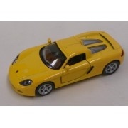 Kinsmart 1:36 Scale Porsche Carrera GT, Yellow