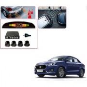 Auto Addict Car Black Reverse Parking Sensor With LED Display For Maruti Suzuki New Swift Dzire 2017